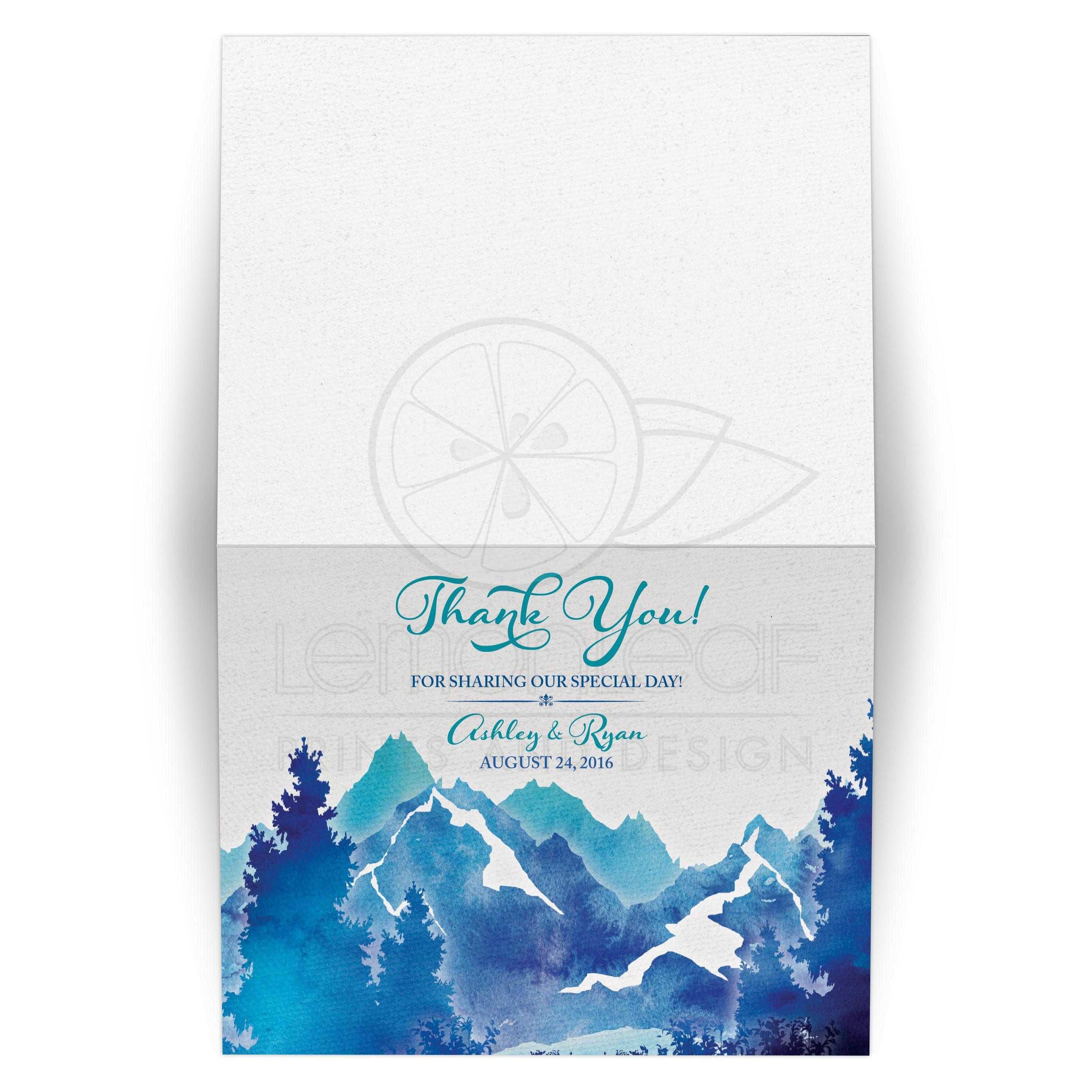 Mountain Wedding Thank You Card