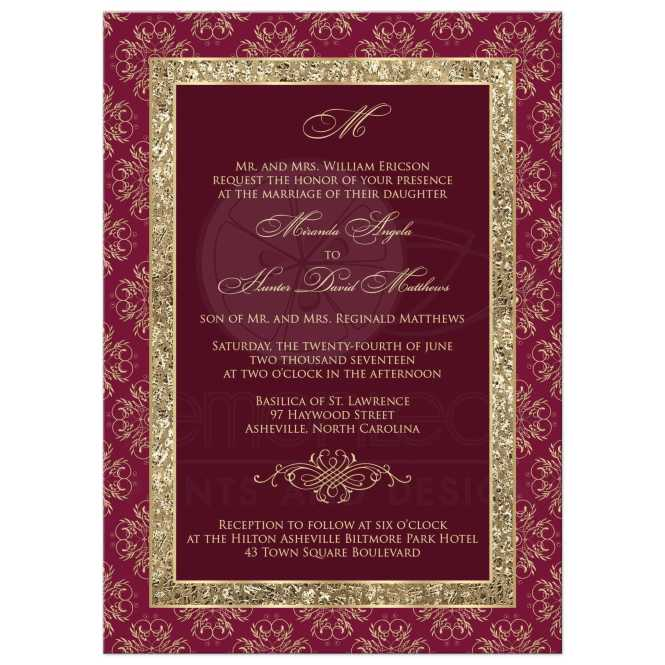 1pcs Sample Red Gold Wedding Design Invitations Laser Cut Invitation Cards With Insert Paper