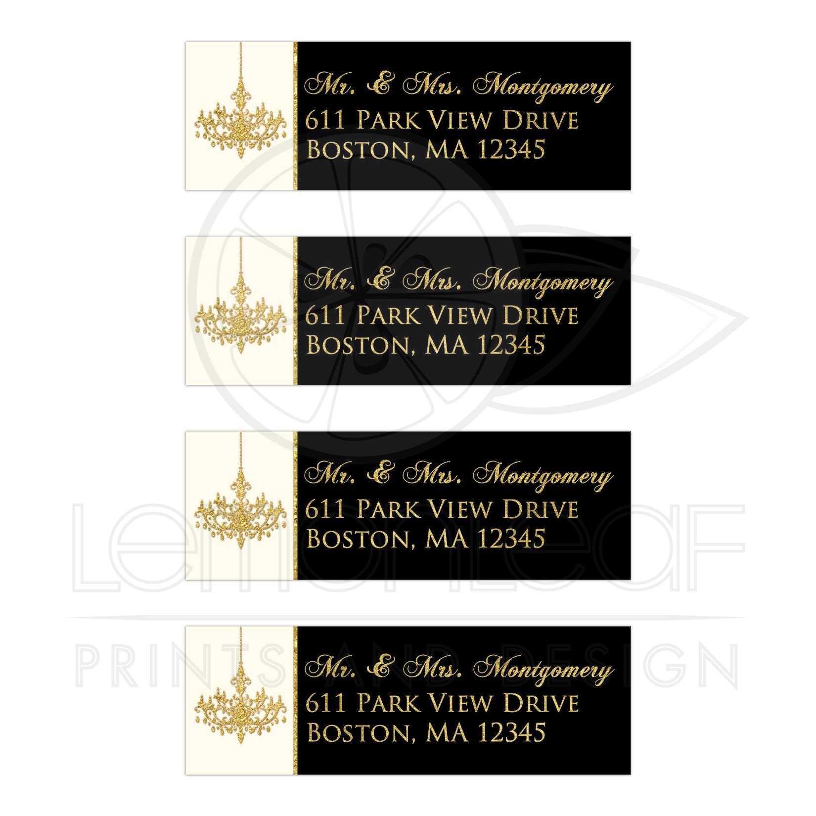 elegant personalized address labels