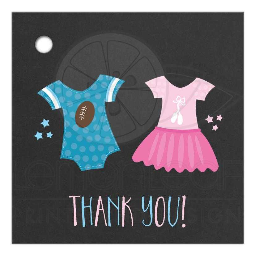 Touchdown Or Tutus Gender Reveal Gift Tags