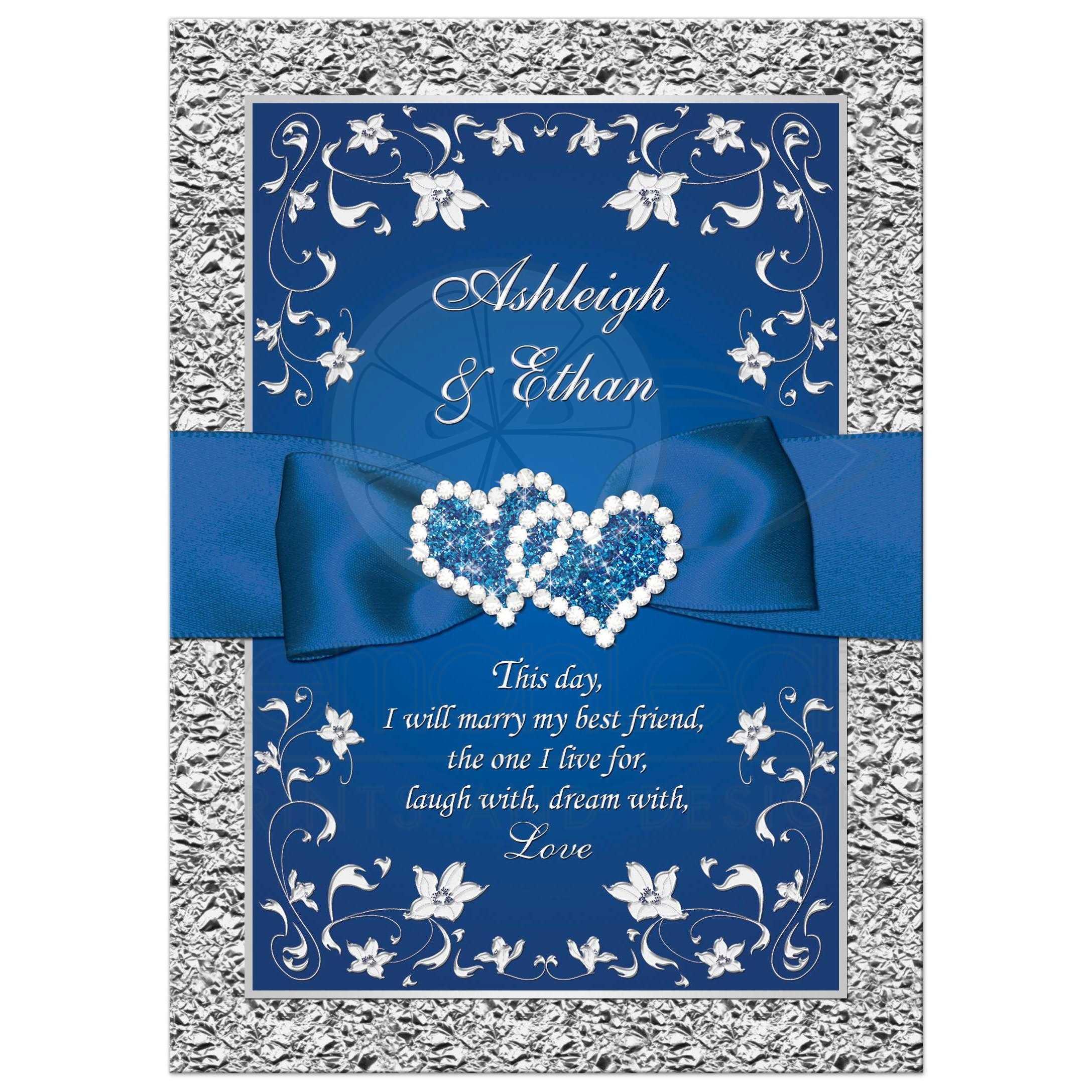 Fall String Lights Wallpaper Weddings Royal Blue Wedding Invitation Faux Foil Silver Floral