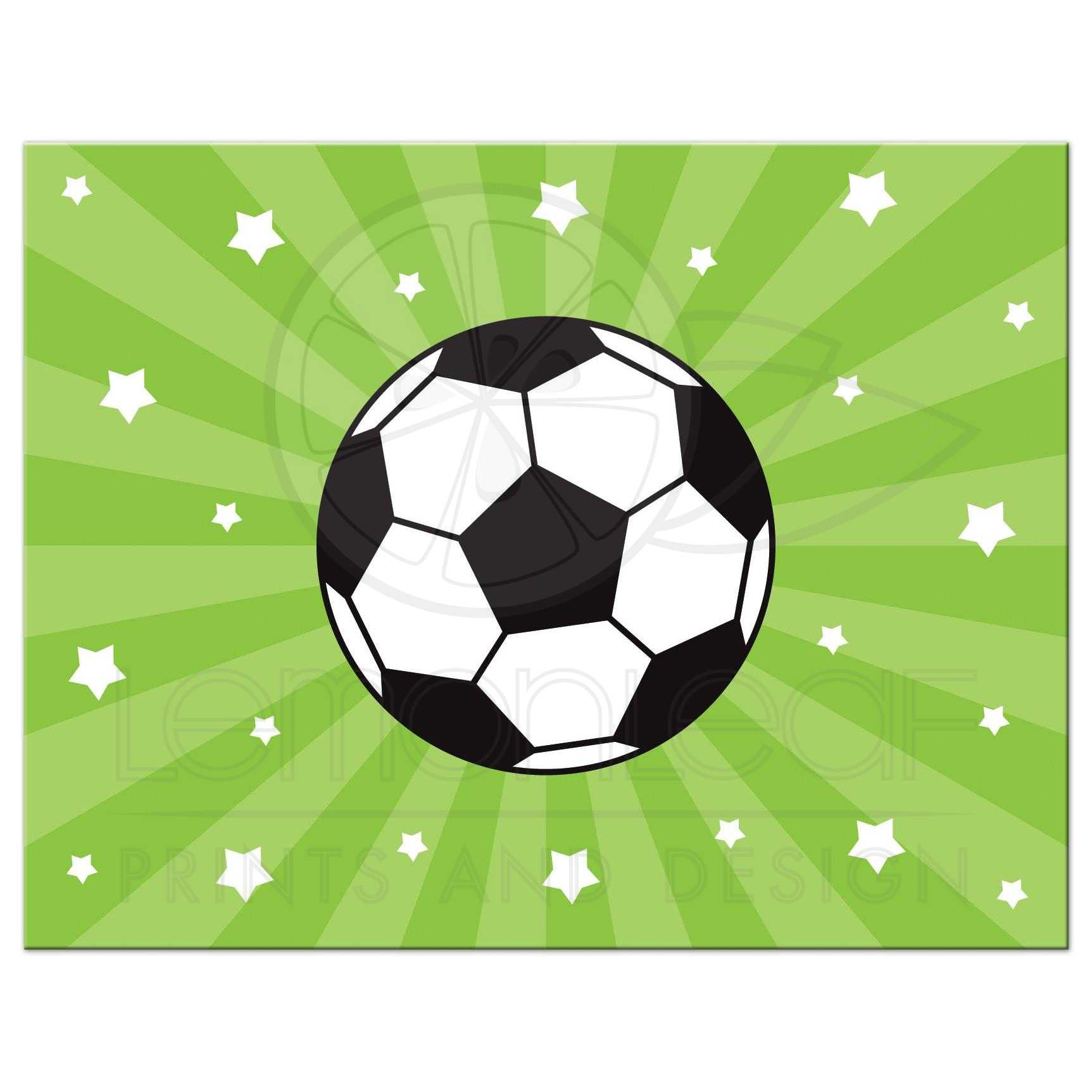 soccer ball and stars