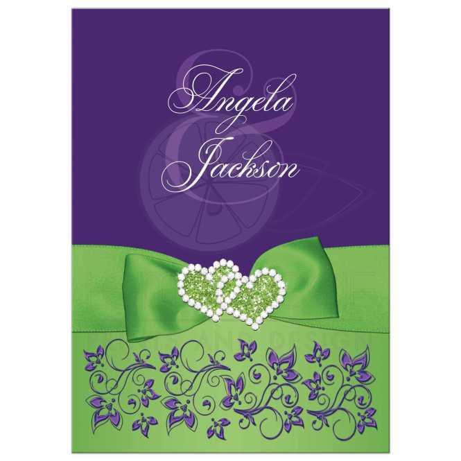 Purple Fl Wedding Invitation