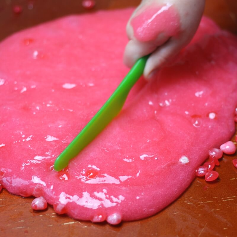 Red Hot Slime For Valentines Day