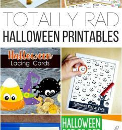 Totally Rad Halloween Printables for Kids [ 1524 x 800 Pixel ]