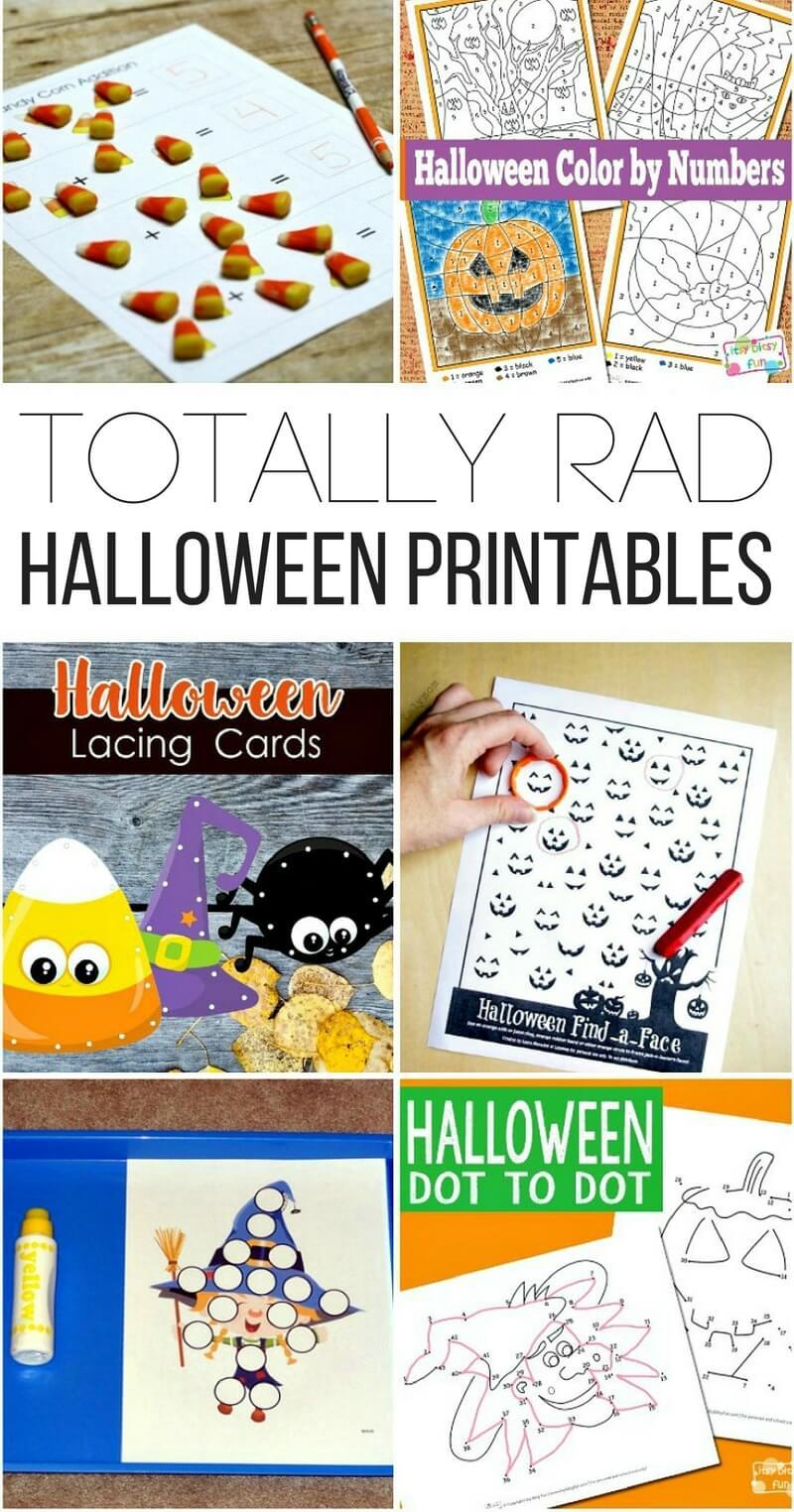 medium resolution of Totally Rad Halloween Printables for Kids