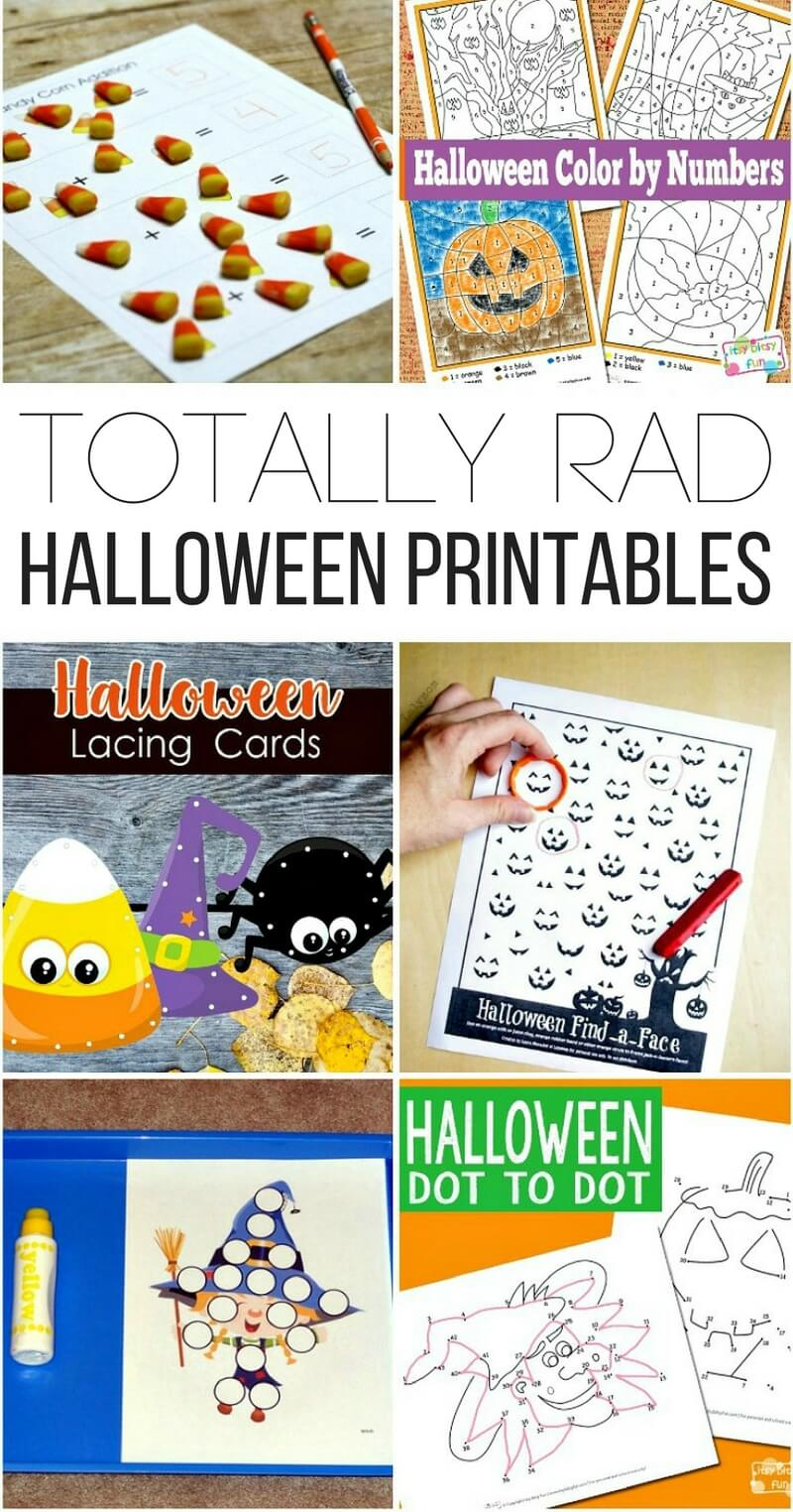 hight resolution of Totally Rad Halloween Printables for Kids