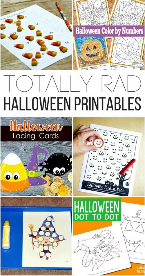 small resolution of Totally Rad Halloween Printables for Kids