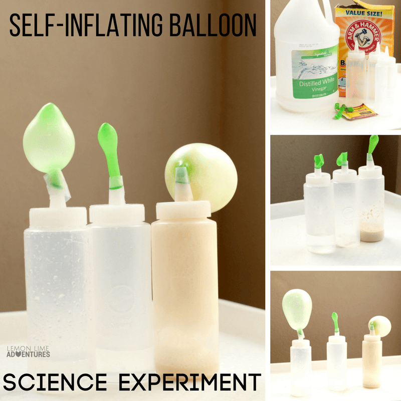 Self Inflating Balloon Science Experiment