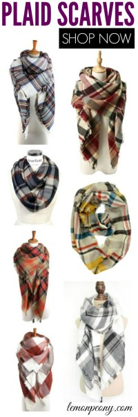 Cheap Plaid Scarves for Fall!