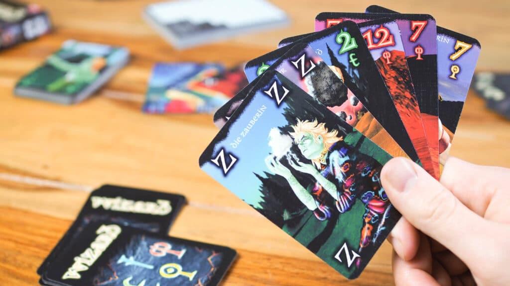 Nahaufnahme vom Spiel Wizzard. Aus dem Artikel: Unsere Top 5 Gesellschaftsspiele