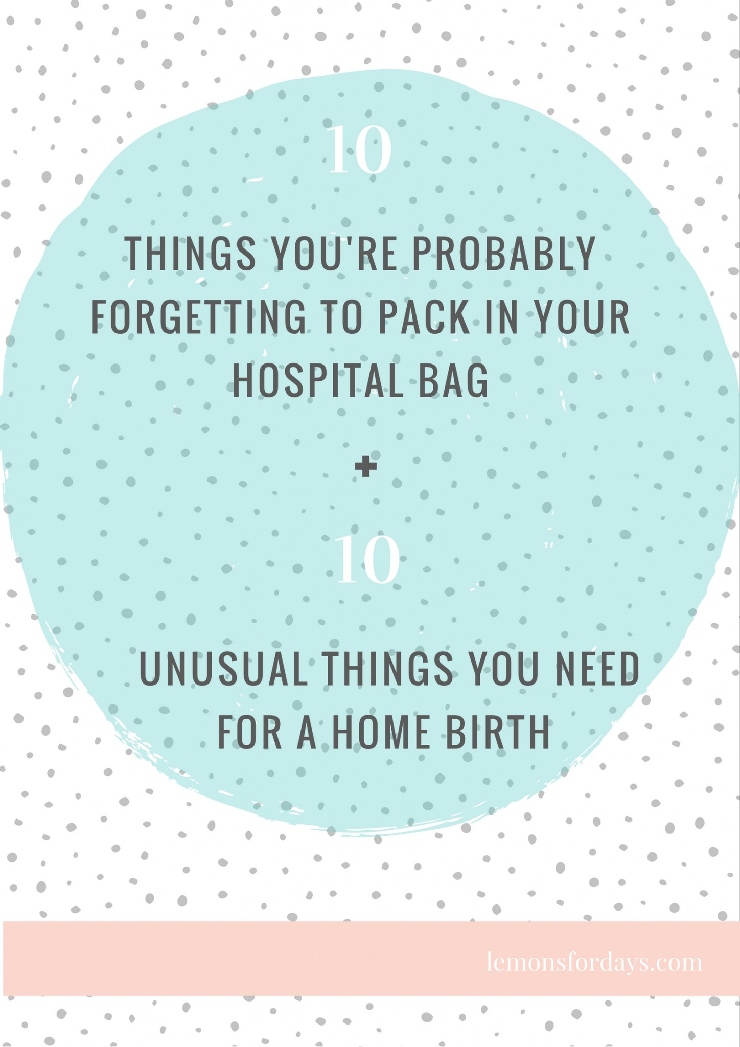 Labour Checklist for hospital & home birth
