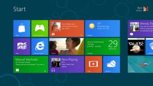 Écran de démarrage de Windows 8 Consumer Preview