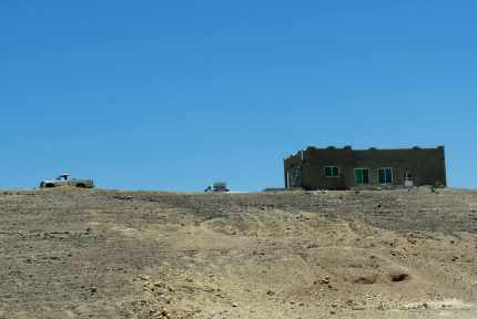 A typical house in the desert