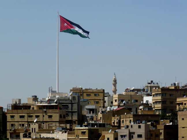 Jordan's flag over Amman