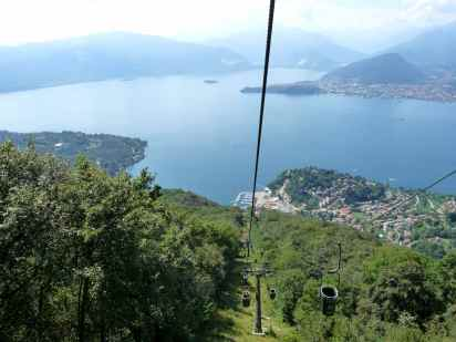 Lake Maggiore - call that a cable car? More like cable buckets.