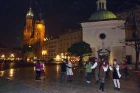 Dancers in the square