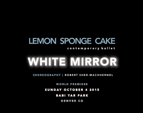 Lemon Sponge Cake Contemporary Ballet - Slide for White Mirror