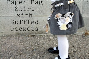 Paper Bag Skirt with Ruffled Pockets: Tutorial