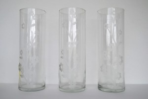 Etched Glass Vases
