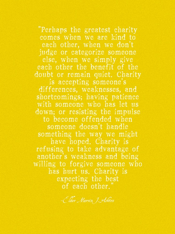 Charity Quote: Printable