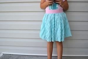 Circle Skirt with Ruffle Fabric