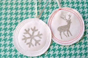 Simply Sewn Glitter Ornaments:  Tutorial