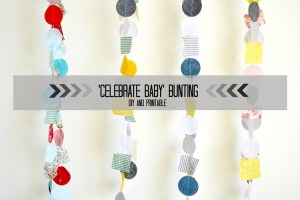 'Celebrate Baby' Bunting: baby gift idea with printable