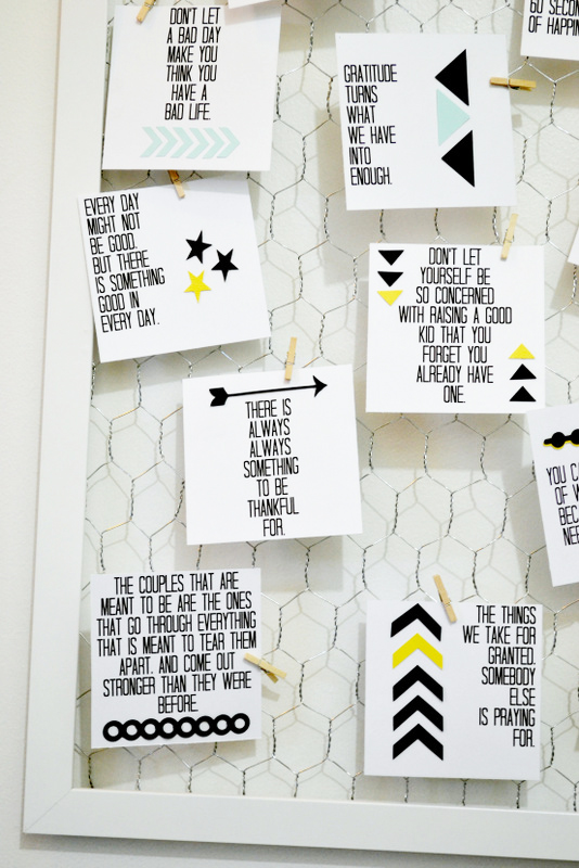 Words To Live By Quote Board DIY With Printable