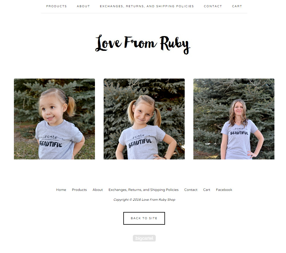 Scars are Beautiful Shirts // love from ruby