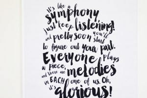 """Glorious"" Song Poster Print {Free Printable}"