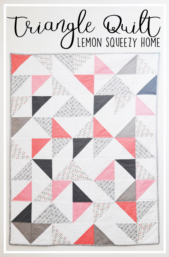 Triangle Baby Quilt Tutorial