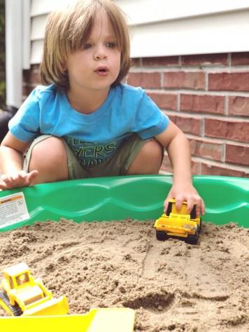 DIY toddler construction site