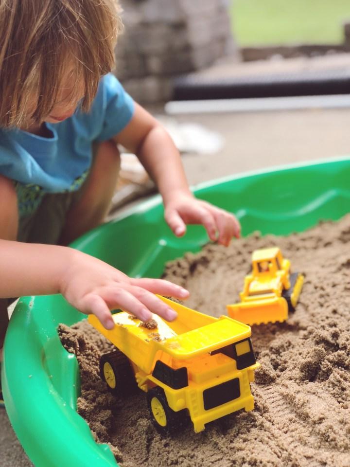 DIY Sensory Activity: Toddler Sandbox For Under $15
