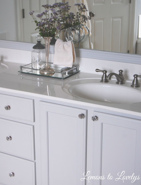 Bathroom Cabinet Makeover - Stonington Gray by BM - See more pictures on lemonstolovelys.blogspot.com