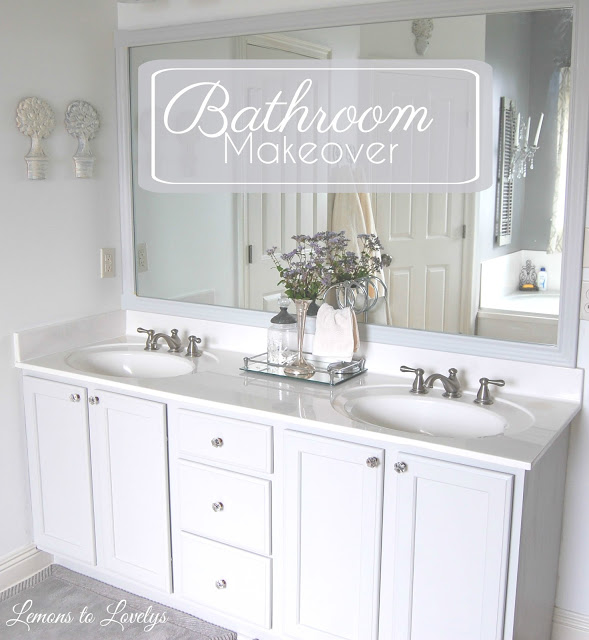 Master Bathroom Makeover- lemonstolovelys.blogspot.com