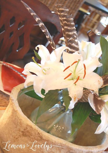 utdoorsy Flower Arrangement more photos on www.lemonstolovelys.blogspot.com