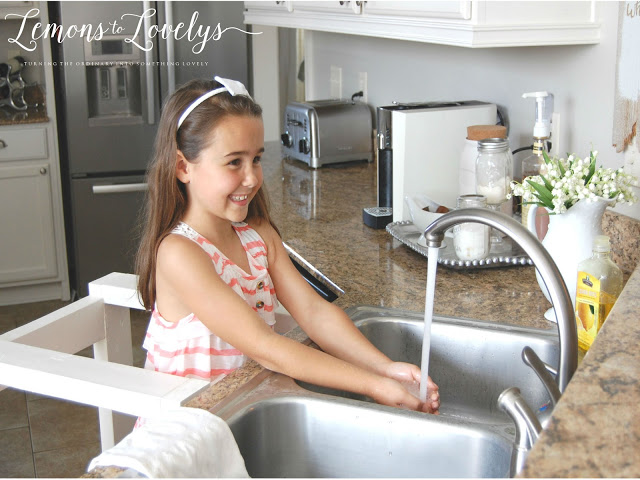 DIY Kitchen Helper. Full tutorial on the blog. www.lemonstolovelys.blogspot.com