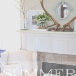 Summer Fireplace Mantle