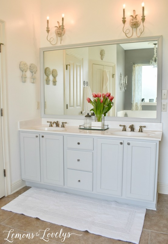 Joyful Spring Home Tour Master Bathroom www.lemonstolovelys.com