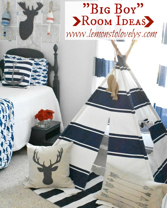 Big Boy Room Ideas for Toddlers www.lemonstolovelys.com