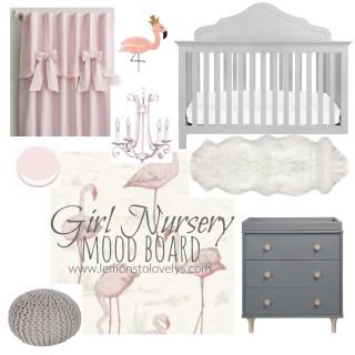 Girl Nursery Mood Board sources on www.lemonstolovelys.com