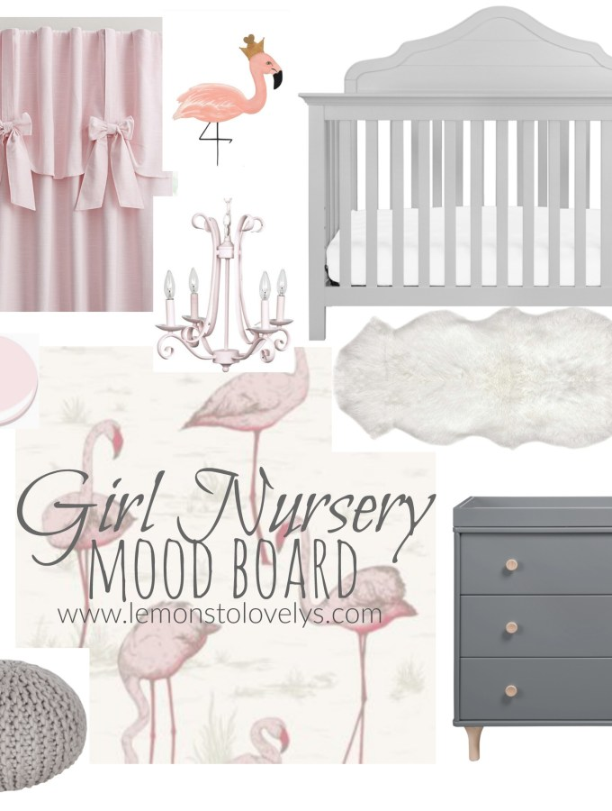Girl Nursery Mood Board sources on www.lemonstolovelys.com
