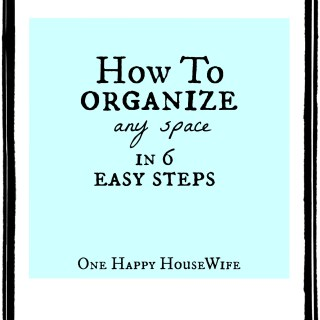 How To Organize Any Space in 6 Easy Steps www.lemonstolovelys.com