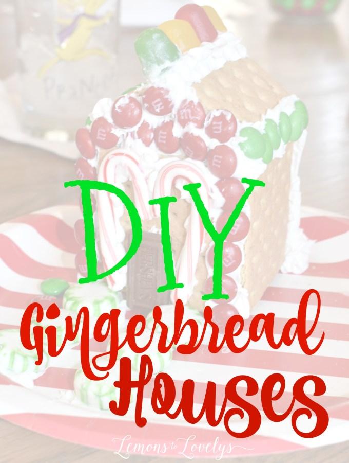 Christmas Activities for Kids- DIY Gingerbread Houses www.lemonstolovelys.com