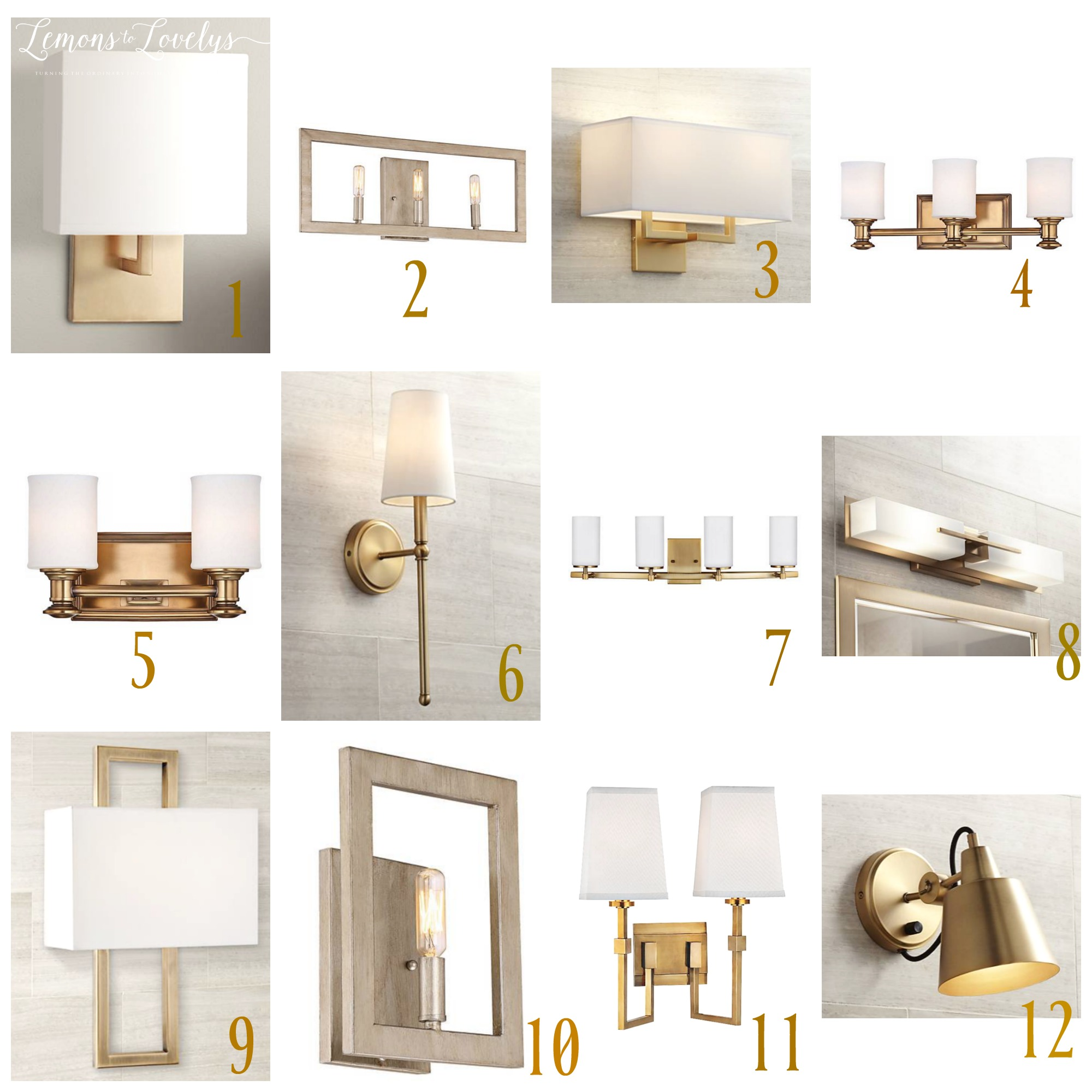 Bathroom Lighting Choices From Lamps Plus Lemons To Lovelys - Lamps plus bathroom lights