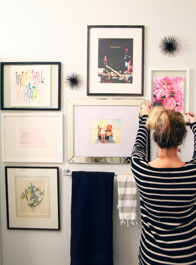 Hanging a Kate Spade Gallery Wall