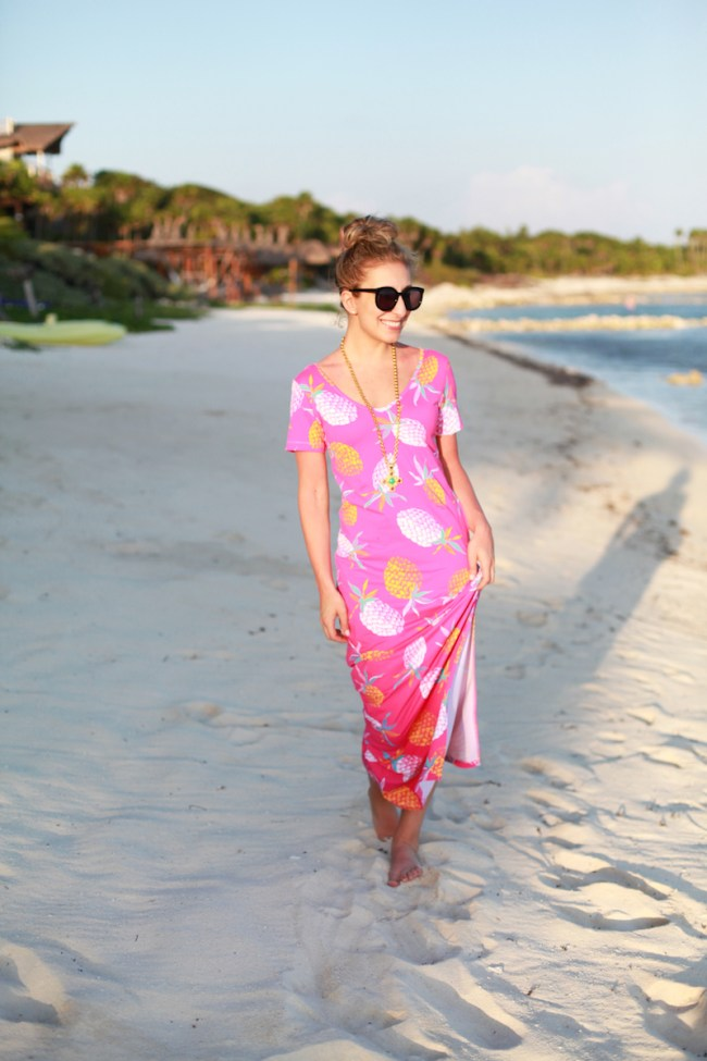 Pineapple Maxi Dress