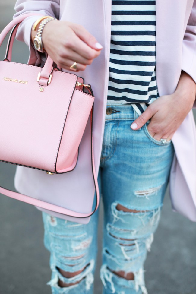 Rips and blush coat