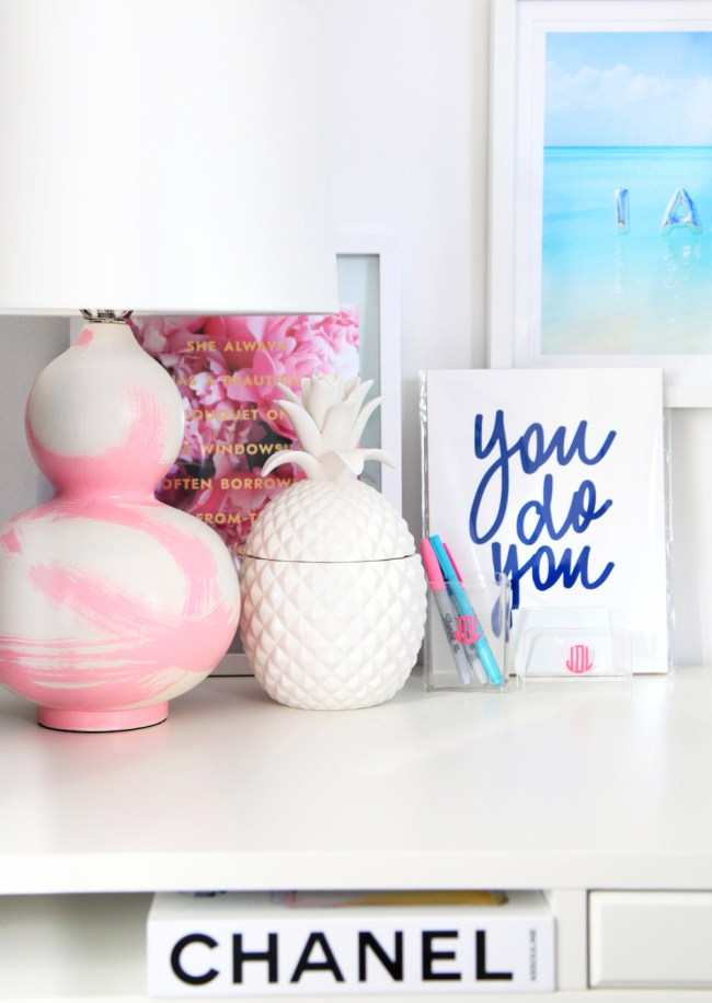Pink and Blue Desk